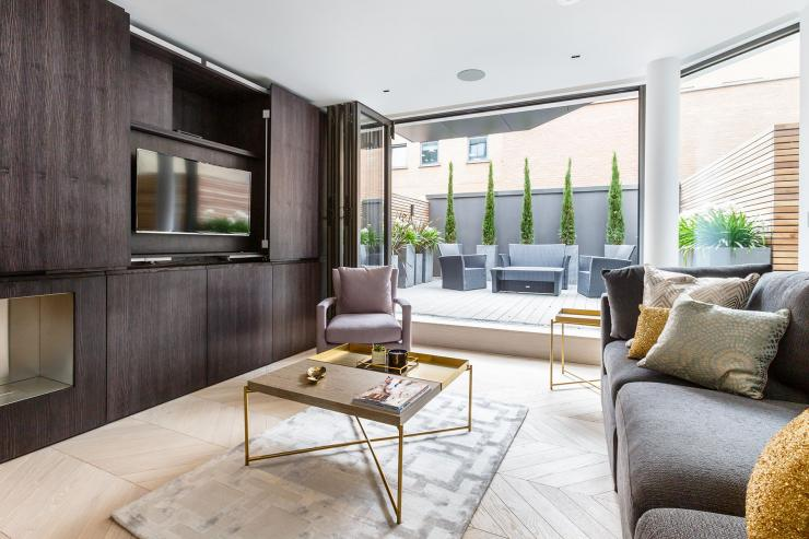 Lovelydays luxury service apartment rental - London - Fitzrovia - Charlotte Street I - Lovelysuite - 2 bedrooms - 2 bathrooms - Luxury living room - luxury serviced apartments london - 611295fc6339 - Lovelydays