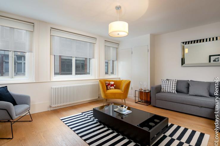 Lovelydays luxury service apartment rental - London - Soho - D'Arblay Street - Lovelysuite - 1 bedrooms - 1 bathrooms - Professional kitchen - 761ff1b58cee - Lovelydays