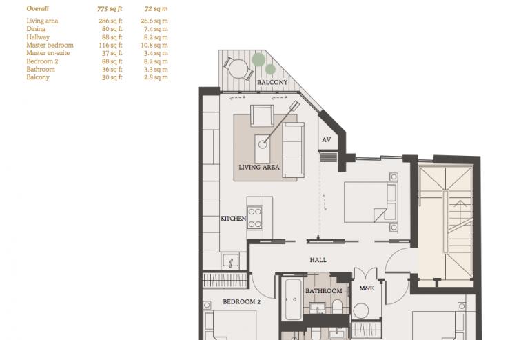 Lovelydays luxury service apartment rental - London - Fitzrovia - Goodge street III - Lovelysuite - 3 bedrooms - 2 bathrooms - Design - book apartments in london - 5ffe5f7710d6 - Lovelydays