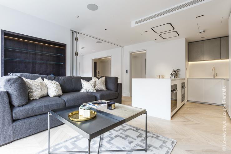 Lovelydays luxury service apartment rental - London - Fitzrovia - Goodge street III - Lovelysuite - 3 bedrooms - 2 bathrooms - Luxury living room - book apartments in london - 45147216d3f5 - Lovelydays