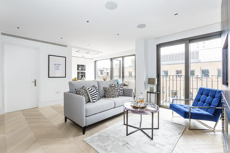 Lovelydays luxury service apartment rental - London - Fitzrovia - Goodge street IV - Lovelysuite - 2 bedrooms - 2 bathrooms - Luxury living room - ff9ff30791f4 - Lovelydays