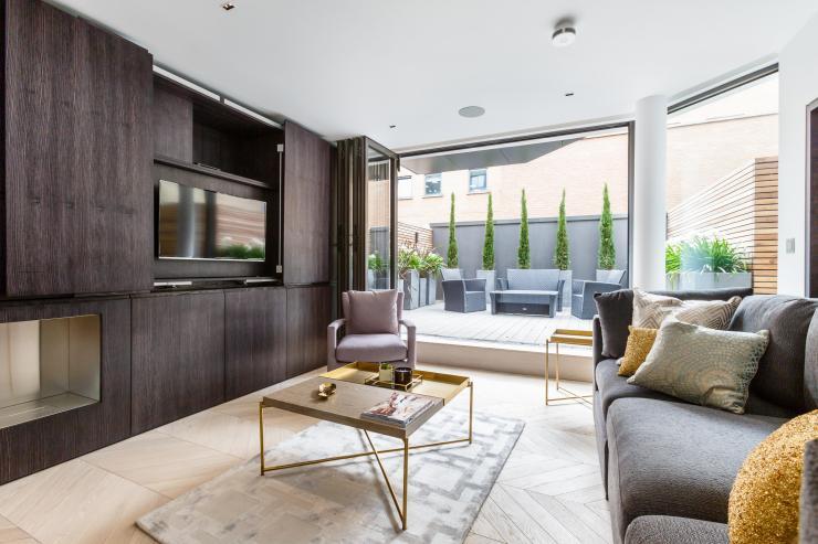 Lovelydays luxury service apartment rental - London - Fitzrovia - Goodge street - Lovelysuite - 2 bedrooms - 2 bathrooms - Luxury living room - a98eea78debf - Lovelydays