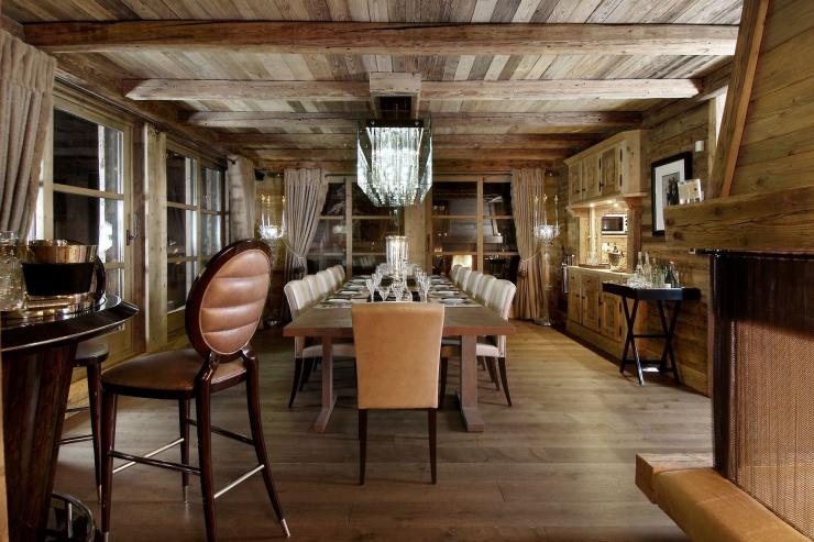 Lovelydays luxury service apartment rental - Courchevel - Great Roc Chalet - Partner - 7 bedrooms - 6 bathrooms - Dining living room - 0d72ec34b2a7 - Lovelydays