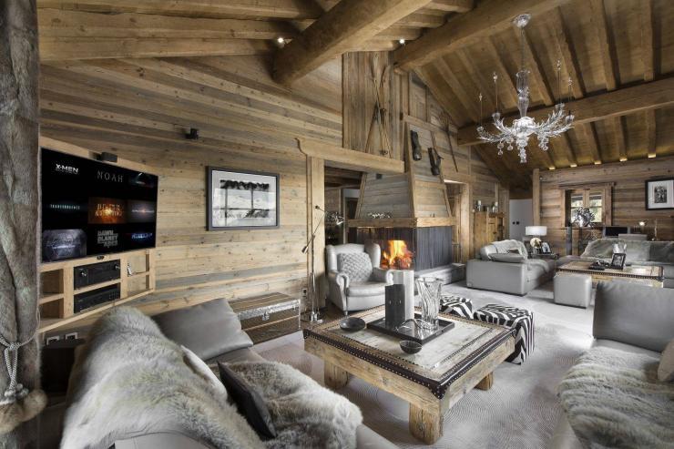 Lovelydays luxury service apartment rental - Courchevel - Great Roc Chalet - Partner - 7 bedrooms - 6 bathrooms - Luxury living room - 9b6f5342f26b - Lovelydays