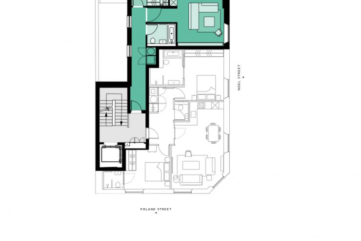 Lovelydays luxury service apartment rental - London - Soho - Oxford Street V - Lovelysuite - 1 bedrooms - 1 bathrooms - Floorplan - book serviced apartments london - fc5ce7a0ece0 - Lovelydays