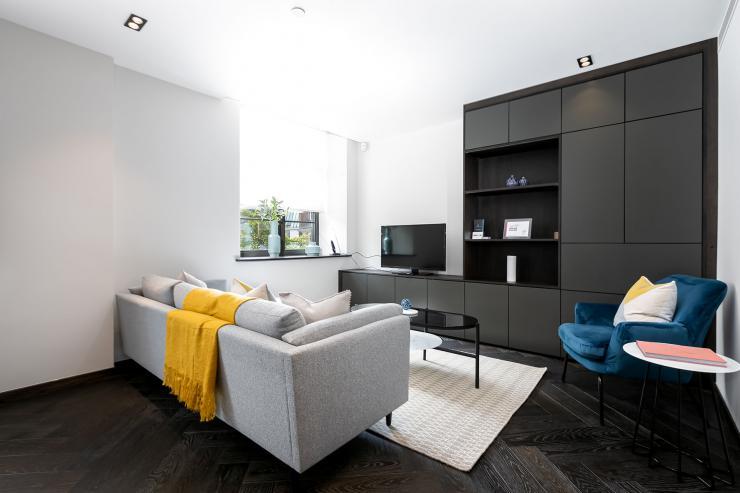 Lovelydays luxury service apartment rental - London - Soho - Oxford Street V - Lovelysuite - 1 bedrooms - 1 bathrooms - Luxury living room - book serviced apartments london - 4045e8cce766 - Lovelydays