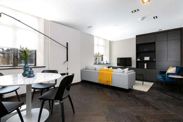 Lovelydays luxury service apartment rental - London - Soho - Oxford Street V - Lovelysuite - 1 bedrooms - 1 bathrooms - Luxury living room - book serviced apartments london - f4982e122f50 - Lovelydays