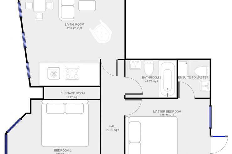 Lovelydays luxury service apartment rental - London - Soho - Romilly Street - Lovelysuite - 2 bedrooms - 2 bathrooms - Floorplan - five star serviced apartments - f6b2e53bbef5 - Lovelydays
