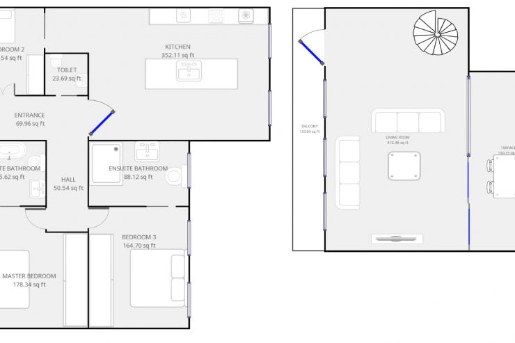 Lovelydays luxury service apartment rental - London - Soho - Royalty Mews I - Partner - 3 bedrooms - 2 bathrooms - Floorplan - eceee24a272e - Lovelydays