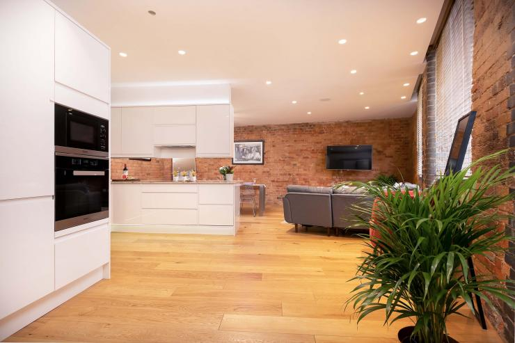 Lovelydays luxury service apartment rental - London - Fitzrovia - Wells Mews B - Lovelysuite - 2 bedrooms - 2 bathrooms - Luxury living room - 7bc1445c80c1 - Lovelydays