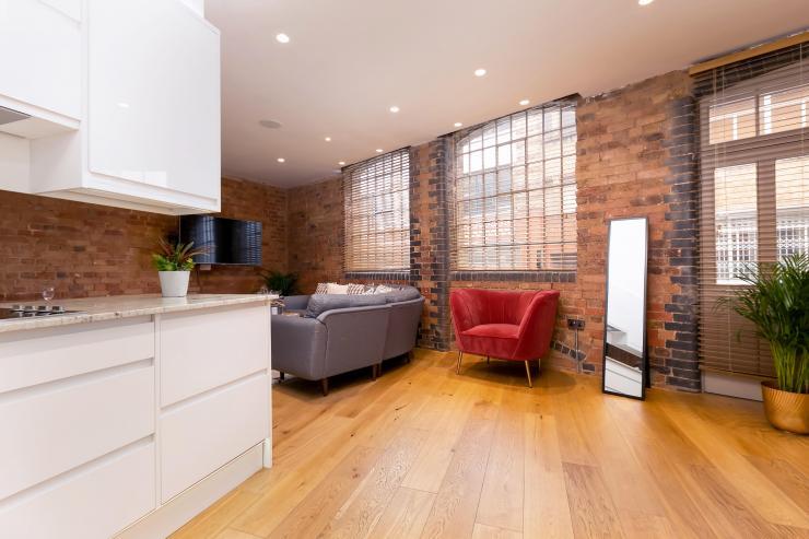 Lovelydays luxury service apartment rental - London - Fitzrovia - Wells Mews B - Lovelysuite - 2 bedrooms - 2 bathrooms - Luxury kitchen - 58fd9825d3b7 - Lovelydays