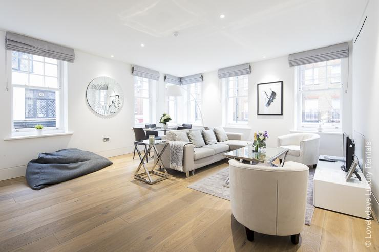 Lovelydays luxury service apartment rental - London - Soho - Romilly Street - Lovelysuite - 2 bedrooms - 2 bathrooms - Luxury living room - five star serviced apartments - 1dd35fb45e47 - Lovelydays