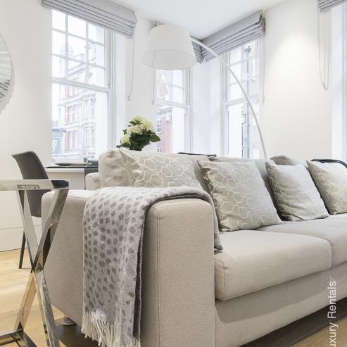 Lovelydays luxury service apartment rental - London - Soho - Romilly Street - Lovelysuite - 2 bedrooms - 2 bathrooms - Luxury living room - five star serviced apartments - bd702ec72a9b - Lovelydays