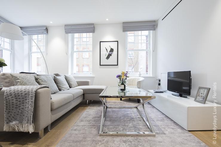 Lovelydays luxury service apartment rental - London - Soho - Romilly Street - Lovelysuite - 2 bedrooms - 2 bathrooms - Luxury living room - five star serviced apartments - a911ae90e228 - Lovelydays